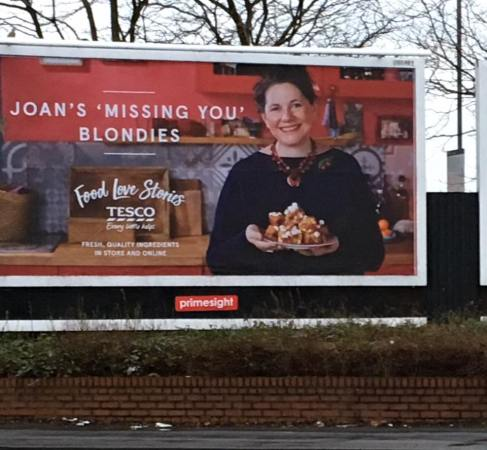 joan tesco billboard